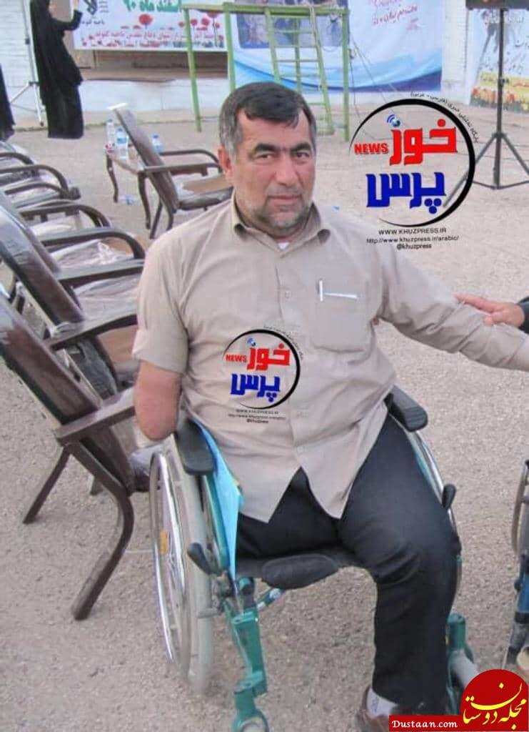 www.dustaan.com تصویری تکان دهنده از شهادت یک جانباز در حمله تروریستی +عکس