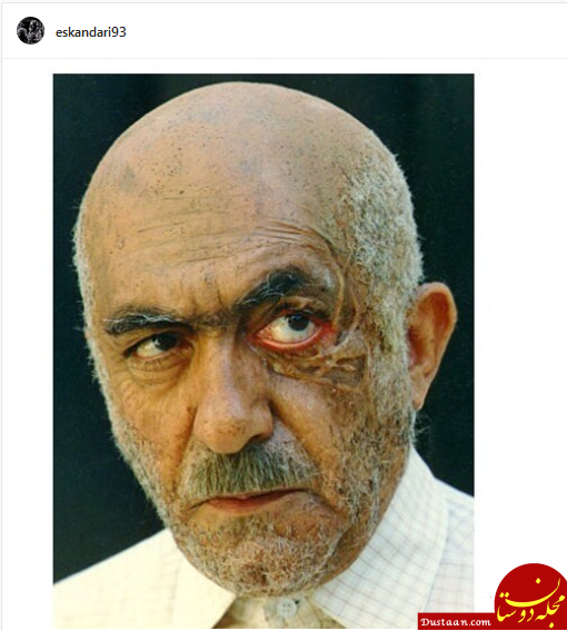www.dustaan.com گریم متفاوت و هنرمندانه مرحوم عزت الله انتظامی +عکس