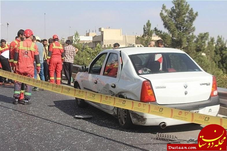 www.dustaan.com واژگونی خونین پراید پس از تصادف با L90 +عکس