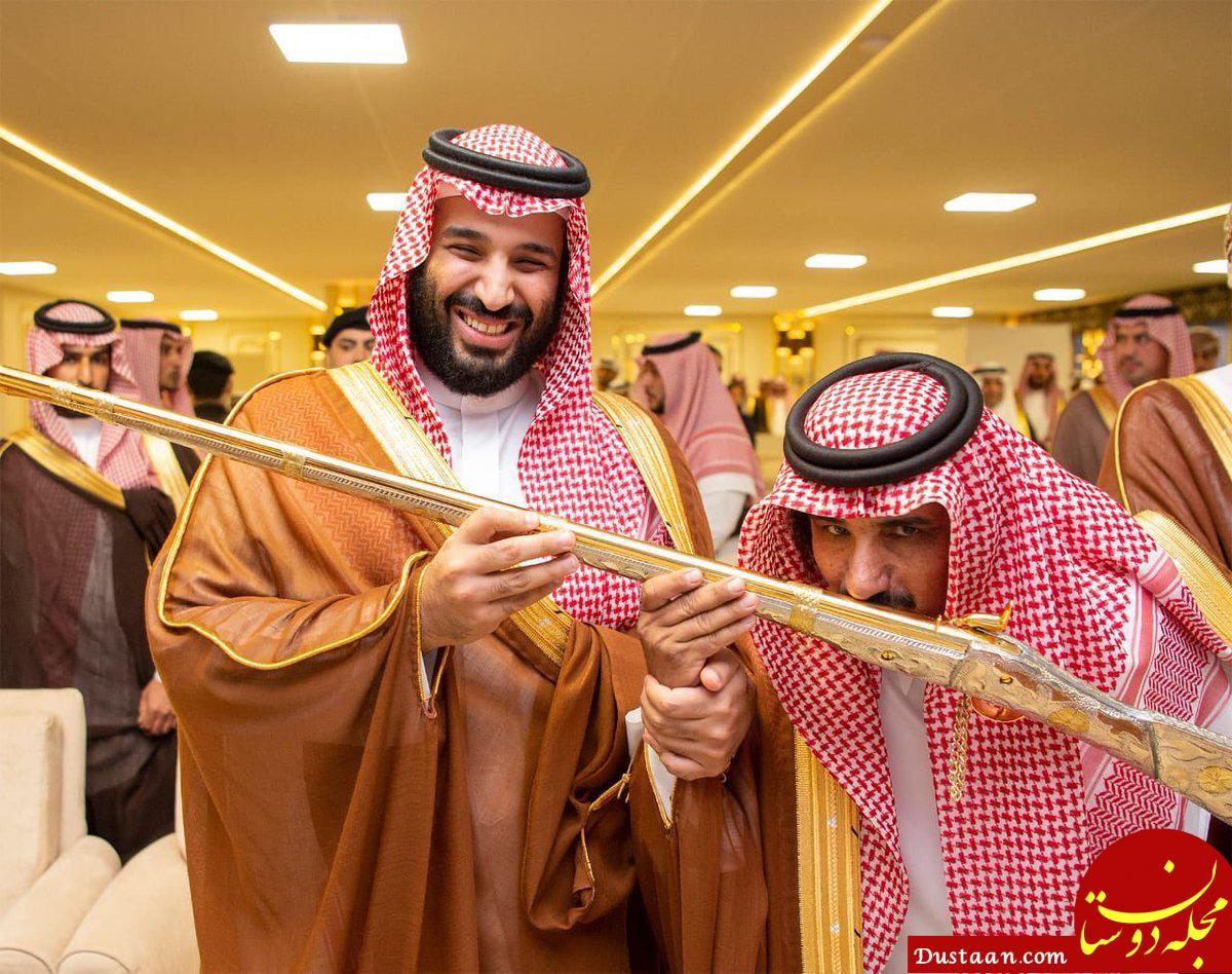 www.dustaan.com محمد بن سلمان شمشیر طلا هدیه داد! +عکس