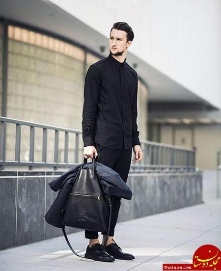 www.dustaan.com مدل های تیپ اسپرت مشکی مردانه/ تیپ مشکی آقایان