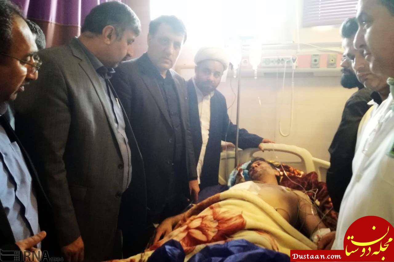 www.dustaan.com عیادت نمایندگان رهبر معظم انقلاب از مجروحان حادثه اهواز
