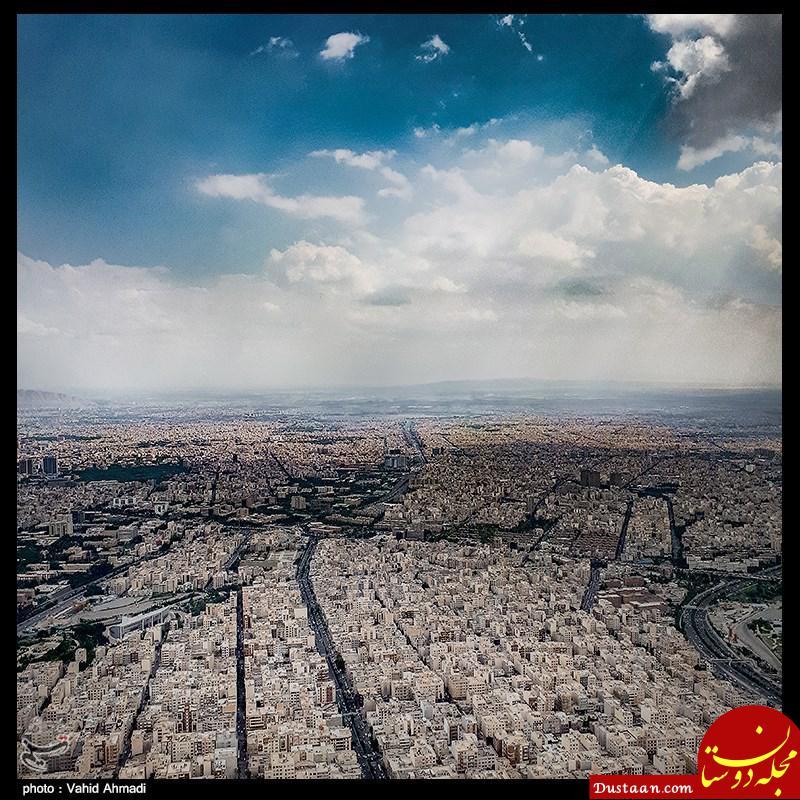 www.dustaan.com تصویری هوایی از وضعیت نامناسب تهران