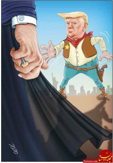 www.dustaan.com اینم دوئل دیدنی روحانی و ترامپ! +عکس