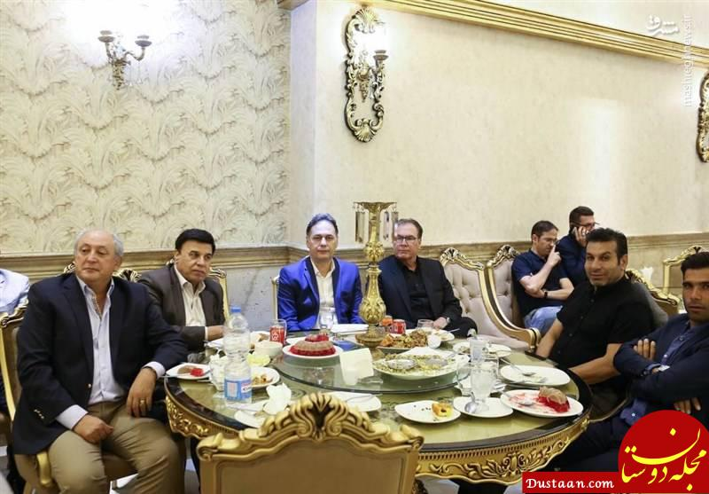 www.dustaan.com ضیافت شام به مناسبت 74 سالگی استقلال +تصاویر