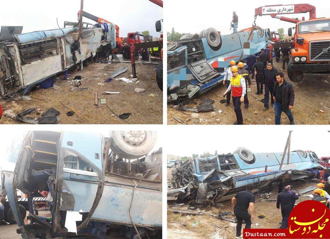 www.dustaan.com تصاویر جدید از تصادف اتوبوس دانش آموزان