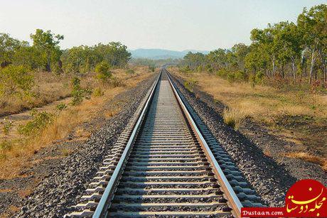 www.dustaan.com علت حادثه خروج قطار قزوین   تهران مشخص شد