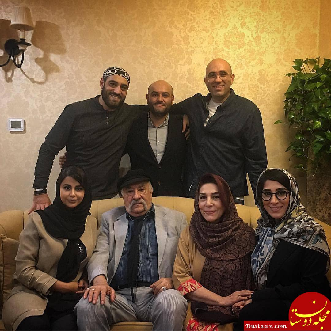 عکس زیبا از داریوش ارجمند در کنار خانواده