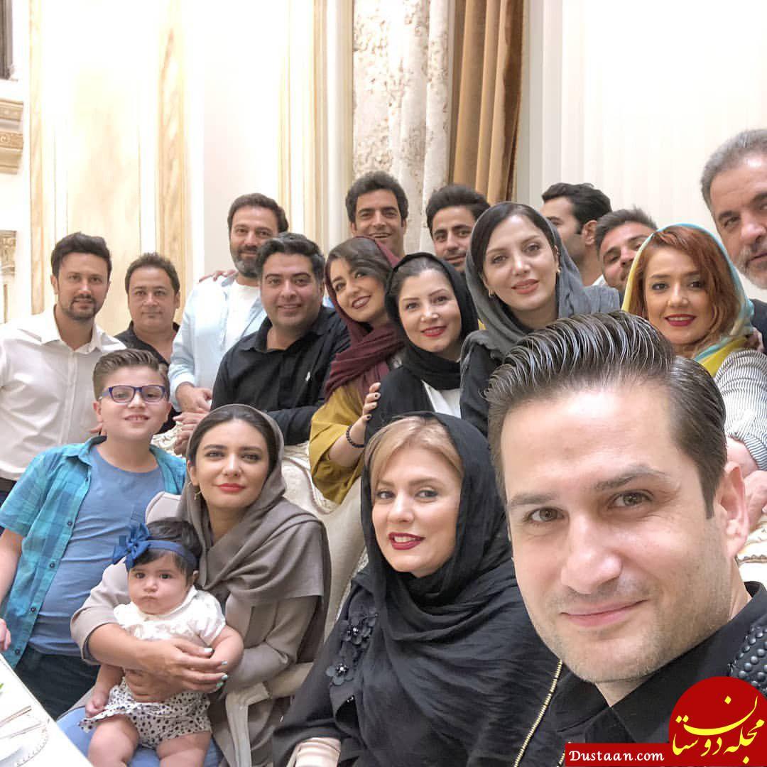 www.dustaan.com دورهمی بازیگران و عوامل سریال دلدادگان +عکس