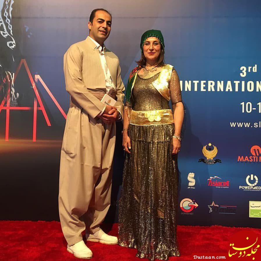 www.dustaan.com پوشش عجیب فاطمه معتمدآریا در جشنواره بین المللی سلیمانیه