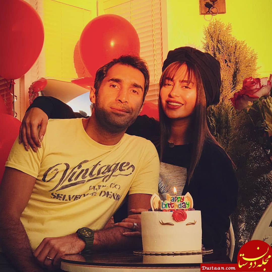 www.dustaan.com هادی کاظمی در جشن تولد همسرش سمانه پاکدل +عکس