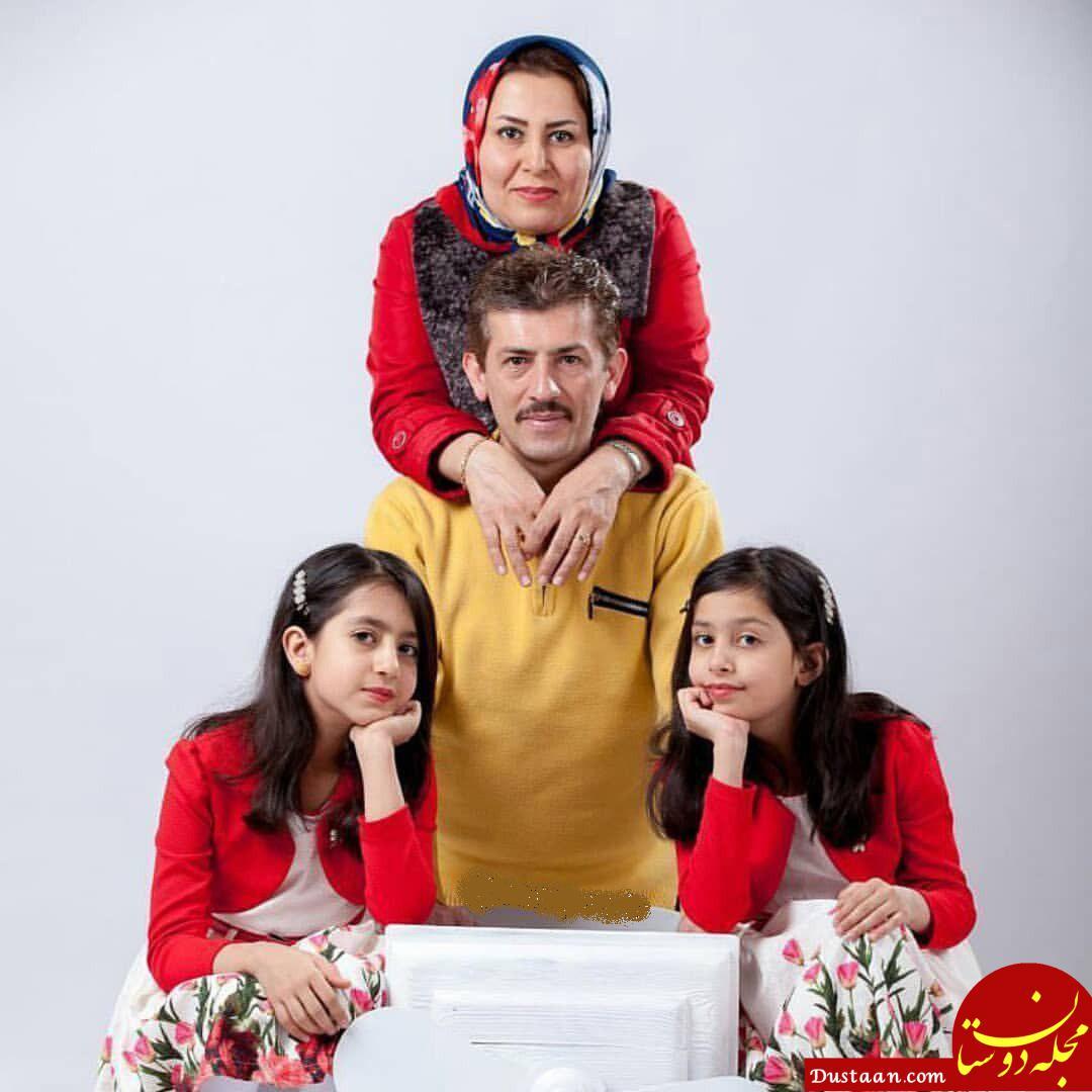 www.dustaan.com سید سریال دلدادگان در کنار همسر و 2 دخترش! +عکس
