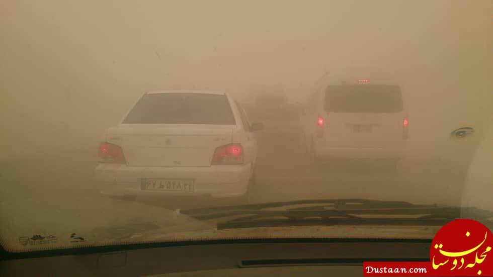 www.dustaan.com غلظت خاک در حمیدیه به 48 برابر مجاز رسید +عکس