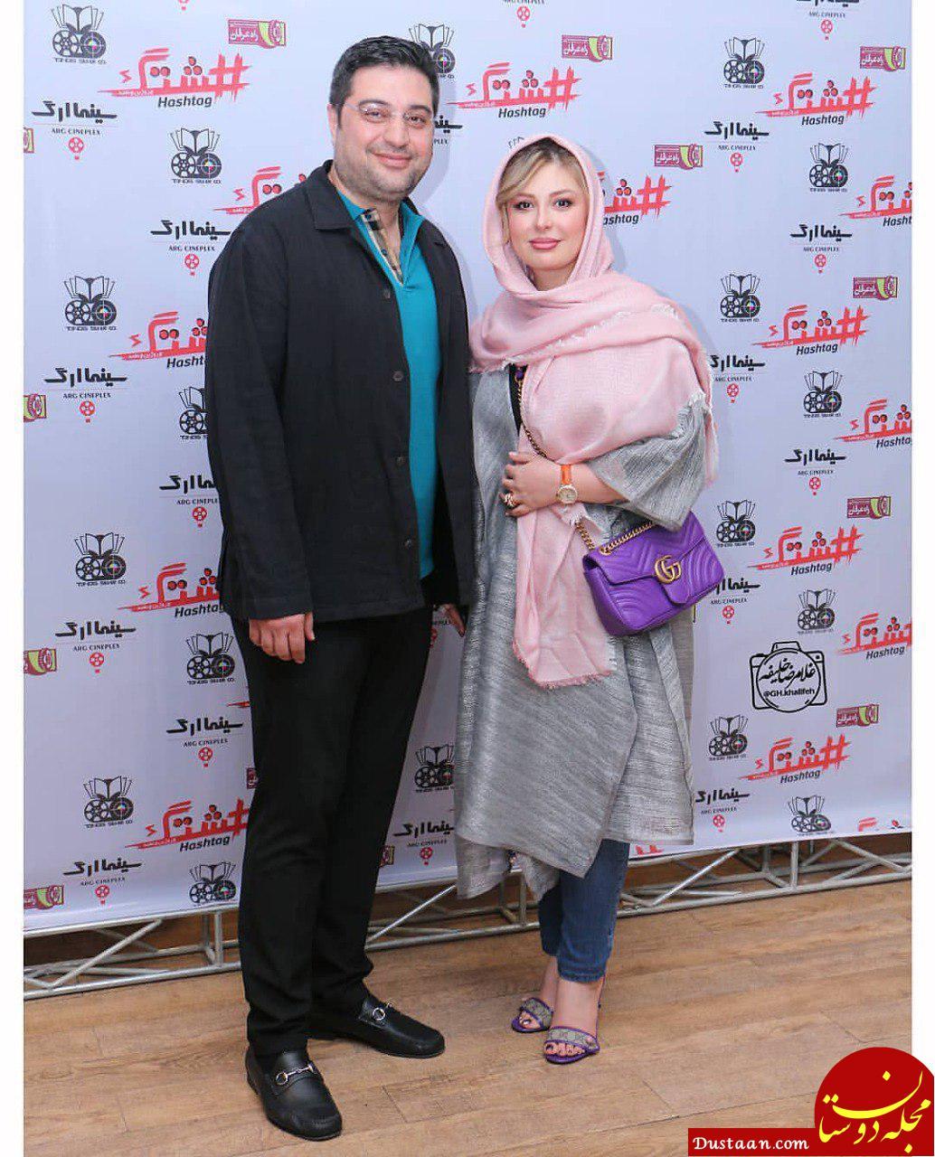 نیوشا ضیغمی و همسرش در اکران مردمی فیلم هشتگ +عکس