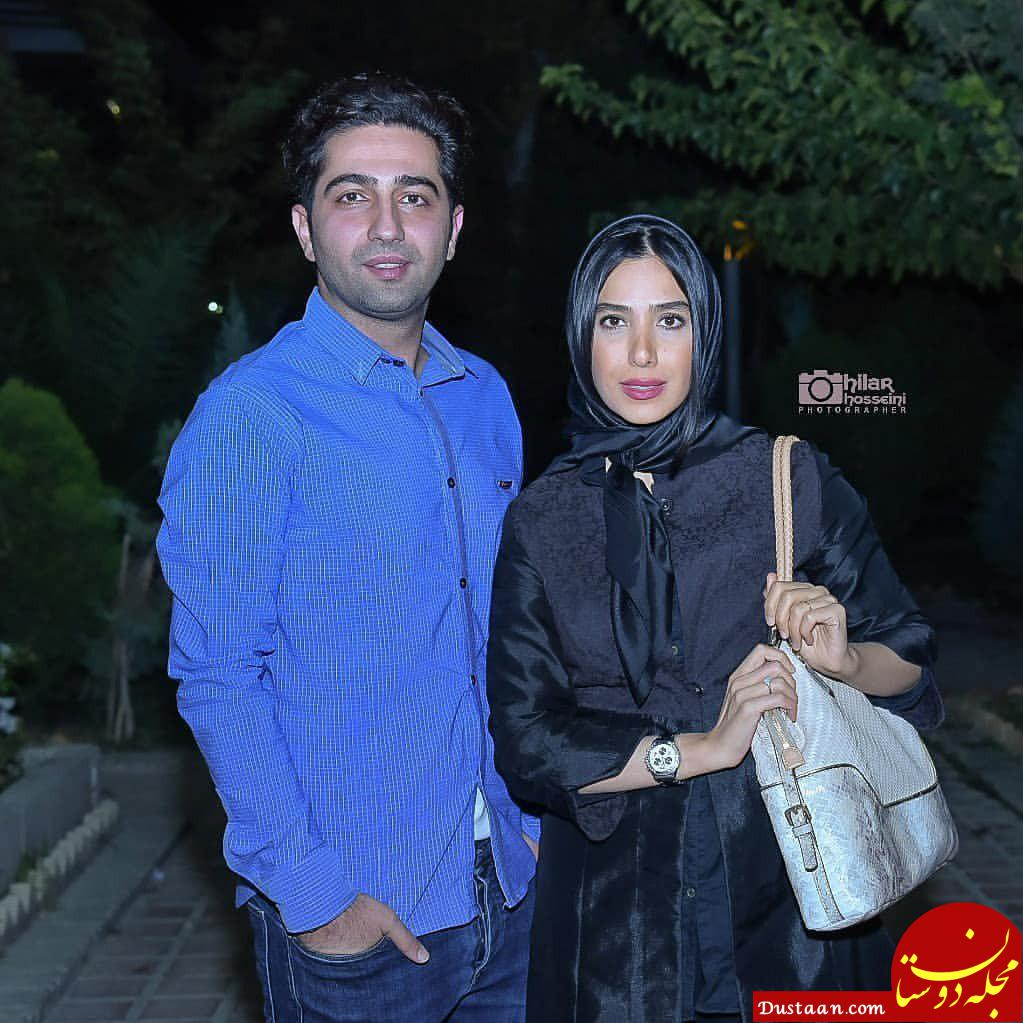 www.dustaan.com بازیگر نقش پارسا در سریال دلدادگان در کنار همسر واقعی اش! +عکس