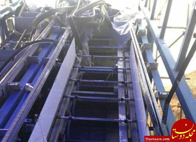 www.dustaan.com پله برقی پل عابر در بومهن به سرقت رفت
