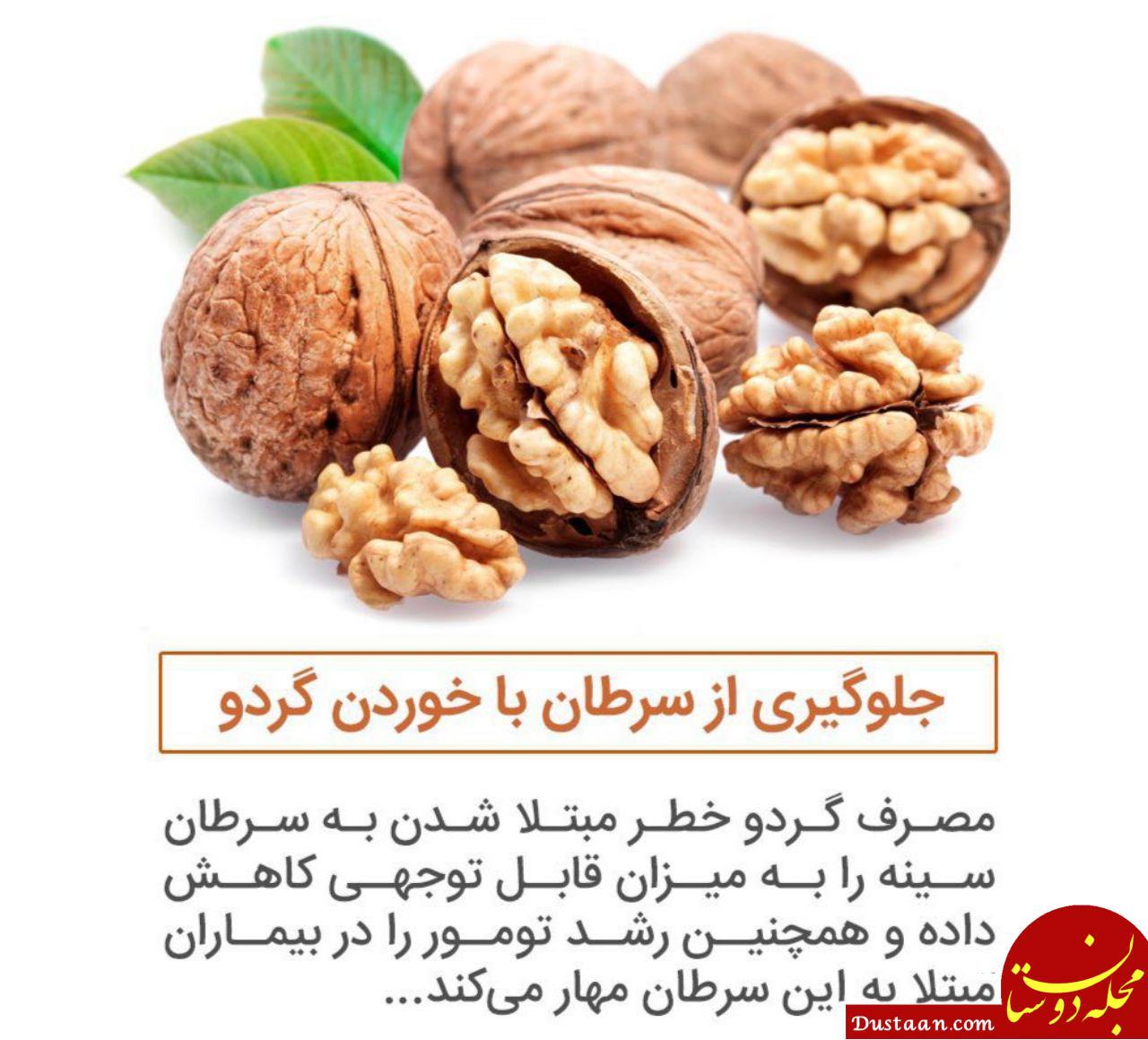 www.dustaan.com جلوگیری از سرطان با خوردن گردو!
