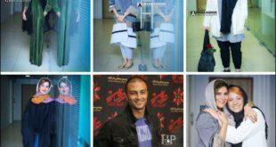 تیپ دیدنی هدی زین العابدین و سحر دولتشاهی در مراسم اکران عرق سرد