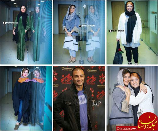 www.dustaan.com تیپ دیدنی هدی زین العابدین و سحر دولتشاهی در مراسم اکران عرق سرد