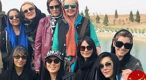 بازیگران زن در افتتاحیه پیست موتور سواری بانوان +تصاویر