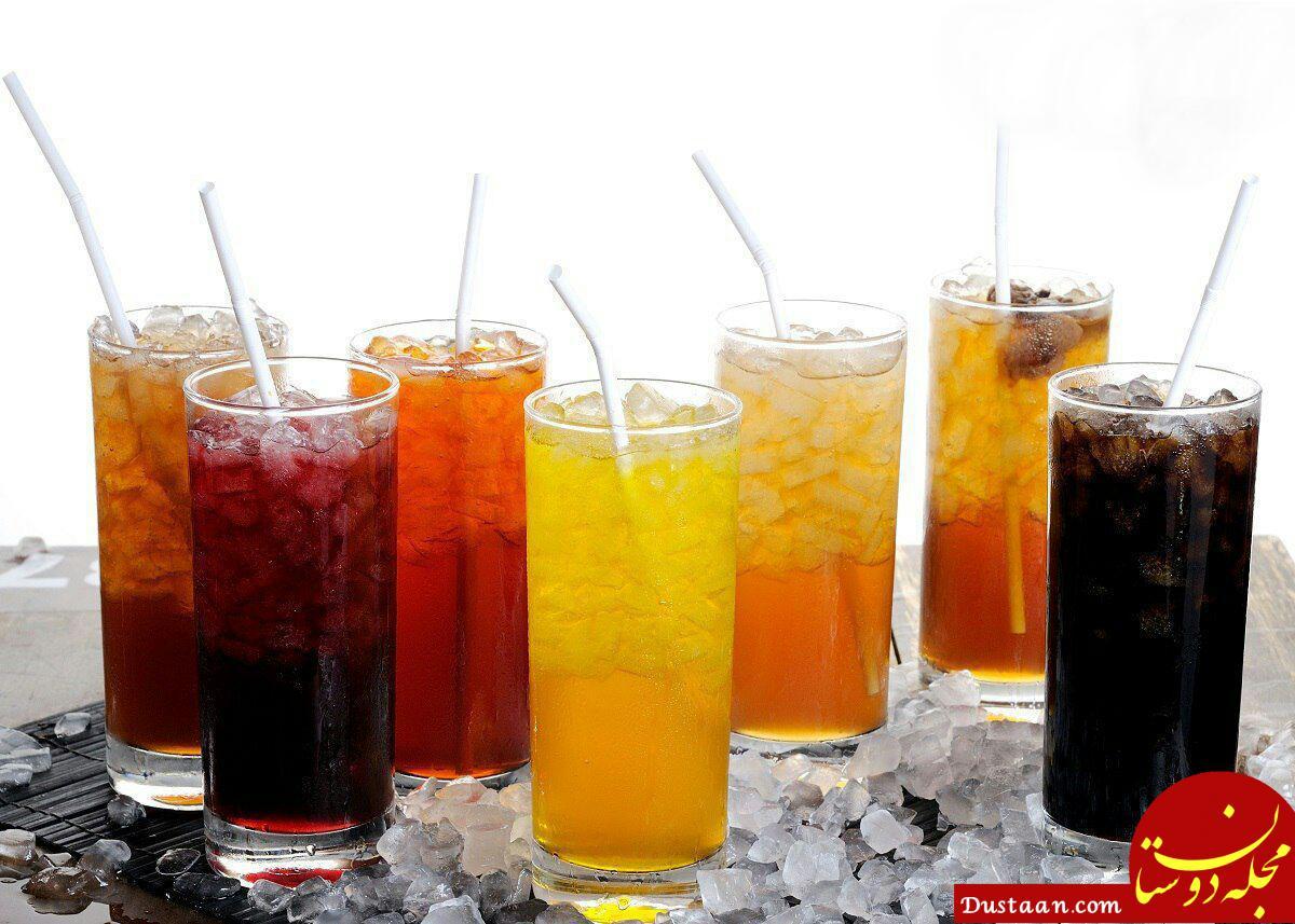 www.dustaan.com میزان ضرر نوشابه ها در رنگ آنها نیست، ولی نوع مشکی در مقایسه با نوشابه های دیگر مضرتر است!