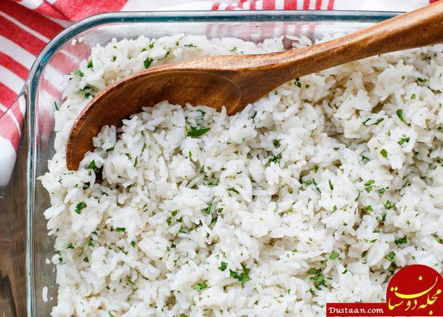 www.dustaan.com طرز تهیه برنج سفید به 3 روش مختلف / آموزش پخت برنج به روش های مختلف