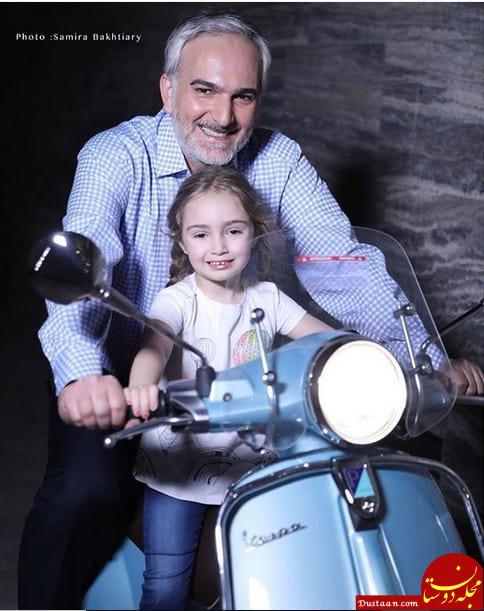 www.dustaan.com موتور سواری «بیژن بنفشه خواه» با دخترش! +عکس
