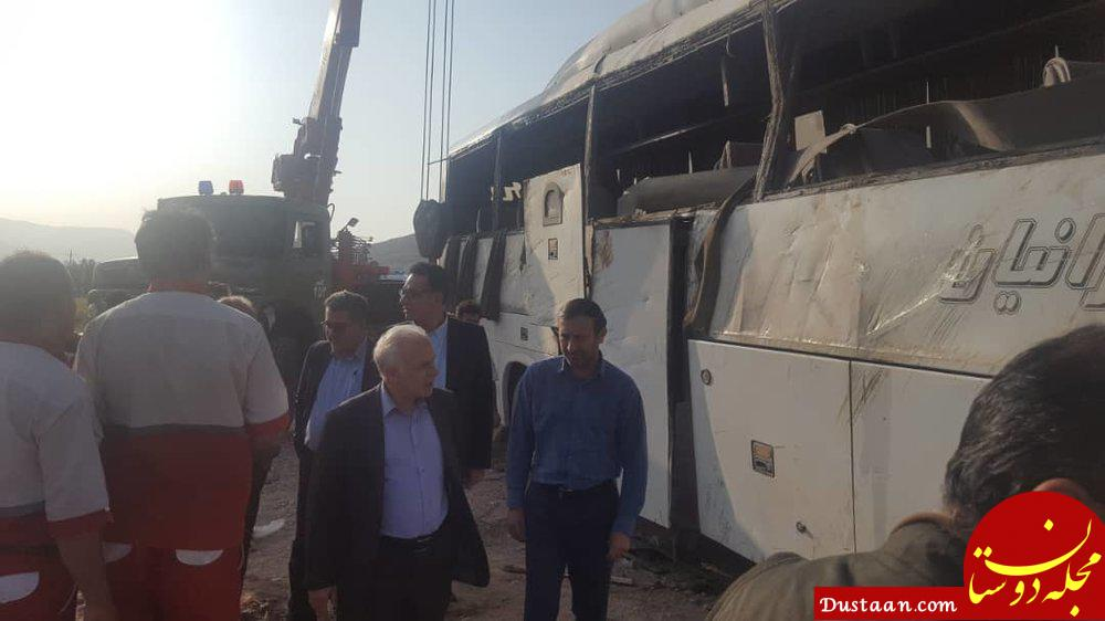 www.dustaan.com واژگونی اتوبوس در اصفهان 5 کشته و 15 مصدوم برجاگذاشت +تصاویر