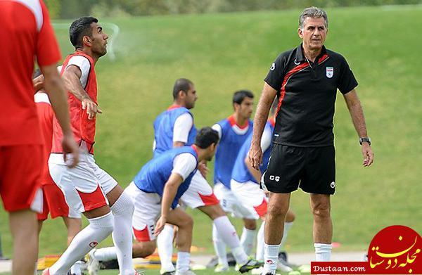 www.dustaan.com گزارش تمرین تیم ملی فوتبال/ عزت اللهی مصدوم شد