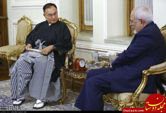 www.dustaan.com لباس عجیب سفیر جدید ژاپن در دیدار با ظریف +عکس