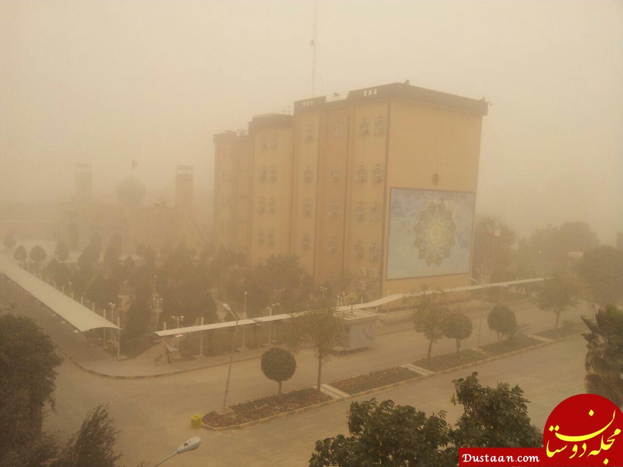 www.dustaan.com اولین باران پاییزی و گرد و غبار خوزستان 86 نفر را راهی بیمارستان کرد
