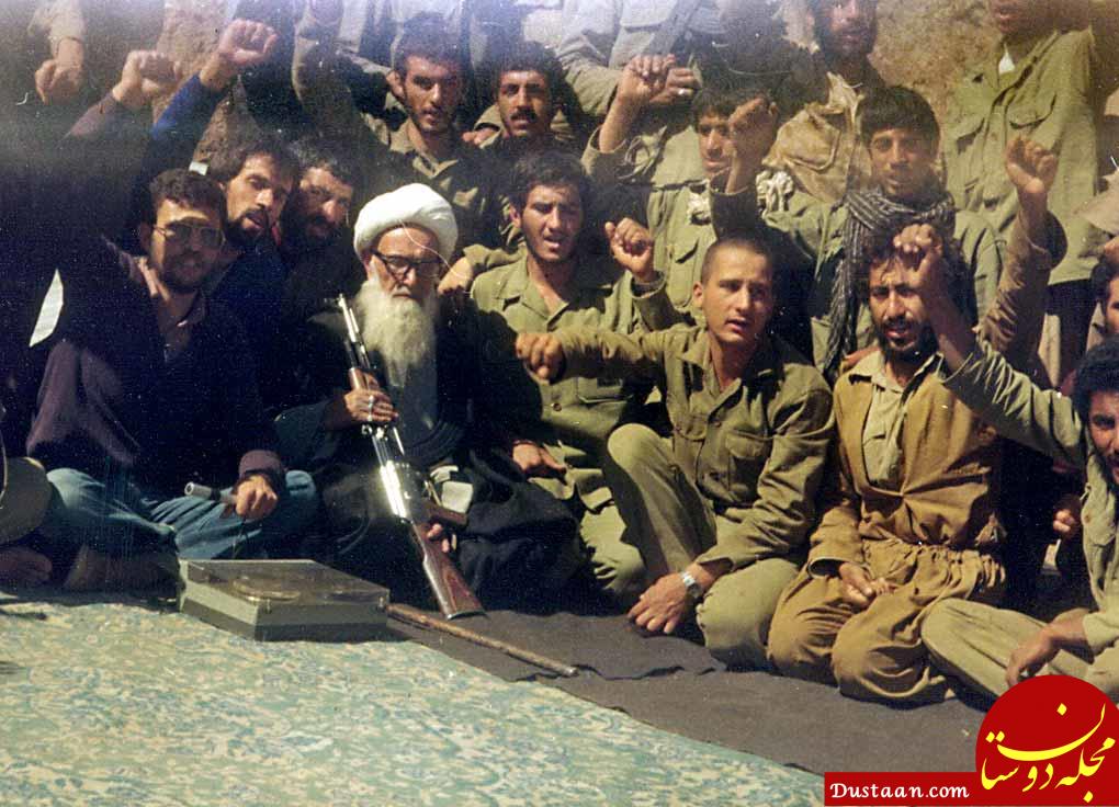 www.dustaan.com امام جمعه ای که با عصا به جبهه می رفت! +تصاویر