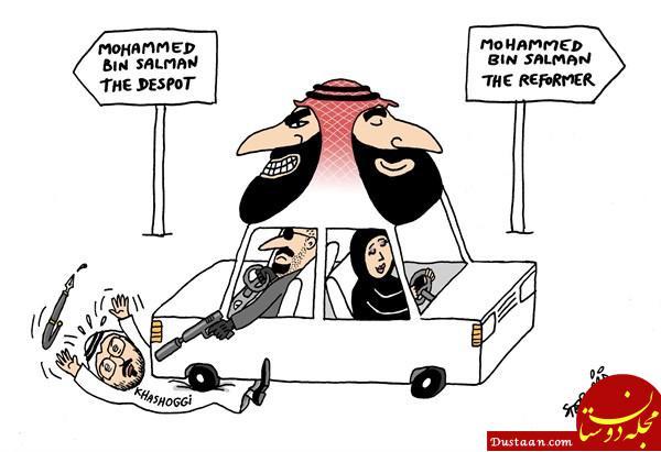 www.dustaan.com چهره بن سلمان از دو نمای متفاوت +عکس