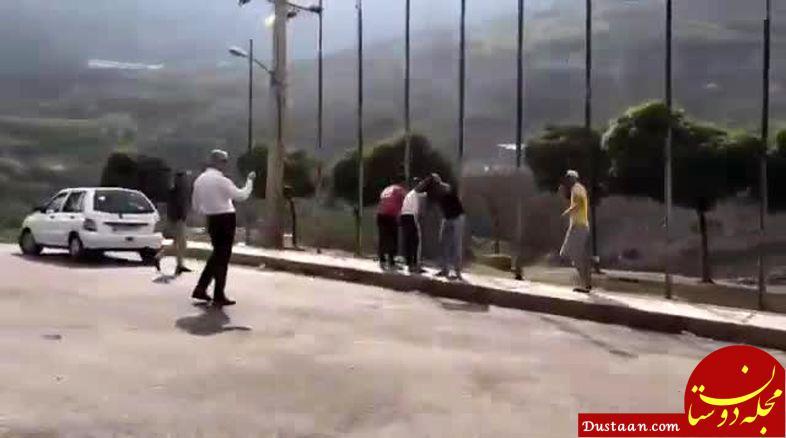 www.dustaan.com واکنش پلیس راهور ویدیوی دستور «بشین و پاشو» 2 مأمور به چند جوان
