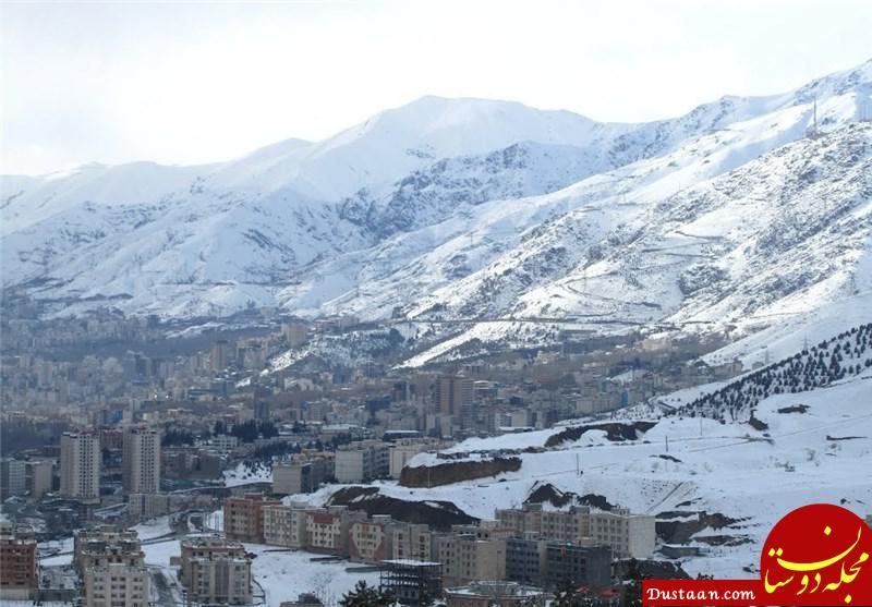 www.dustaan.com برف در ارتفاعات تهران و بارش باران در ۱۵ استان