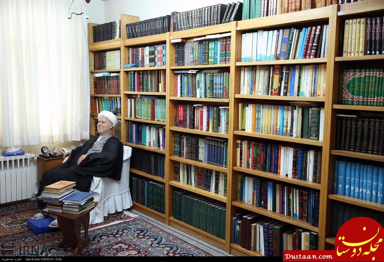 www.dustaan.com کتابخانه شخصی آیت الله اکبر هاشمی رفسنجانی +عکس