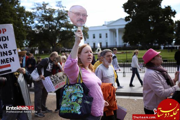 www.dustaan.com ولیعهد سعودی با اره در مقابل کاخ سفید! +تصاویر