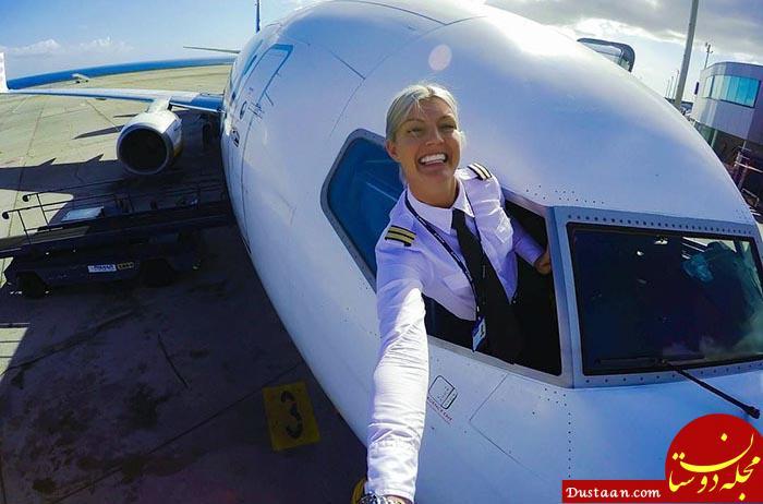 www.dustaan.com «ماریا پترسون» زیباترین خلبان زن جهان! +تصاویر