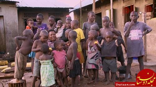 www.dustaan.com زندگی غم انگیز زن 40 ساله ای که تاکنون 44 بچه به دنیا آورده! +تصاویر