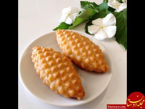 www.dustaan.com طرز تهیه شیرینی کالبورا باستی به سبکی خوشمزه