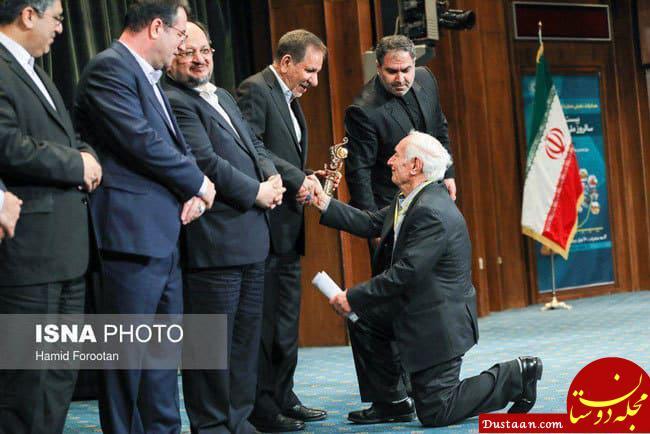 www.dustaan.com رفتار عجیب مقابل اسحاق جهانگیری! +عکس