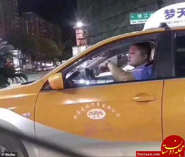 www.dustaan.com استفاده راننده تاکسی از ماسک زیبایی! +عکس