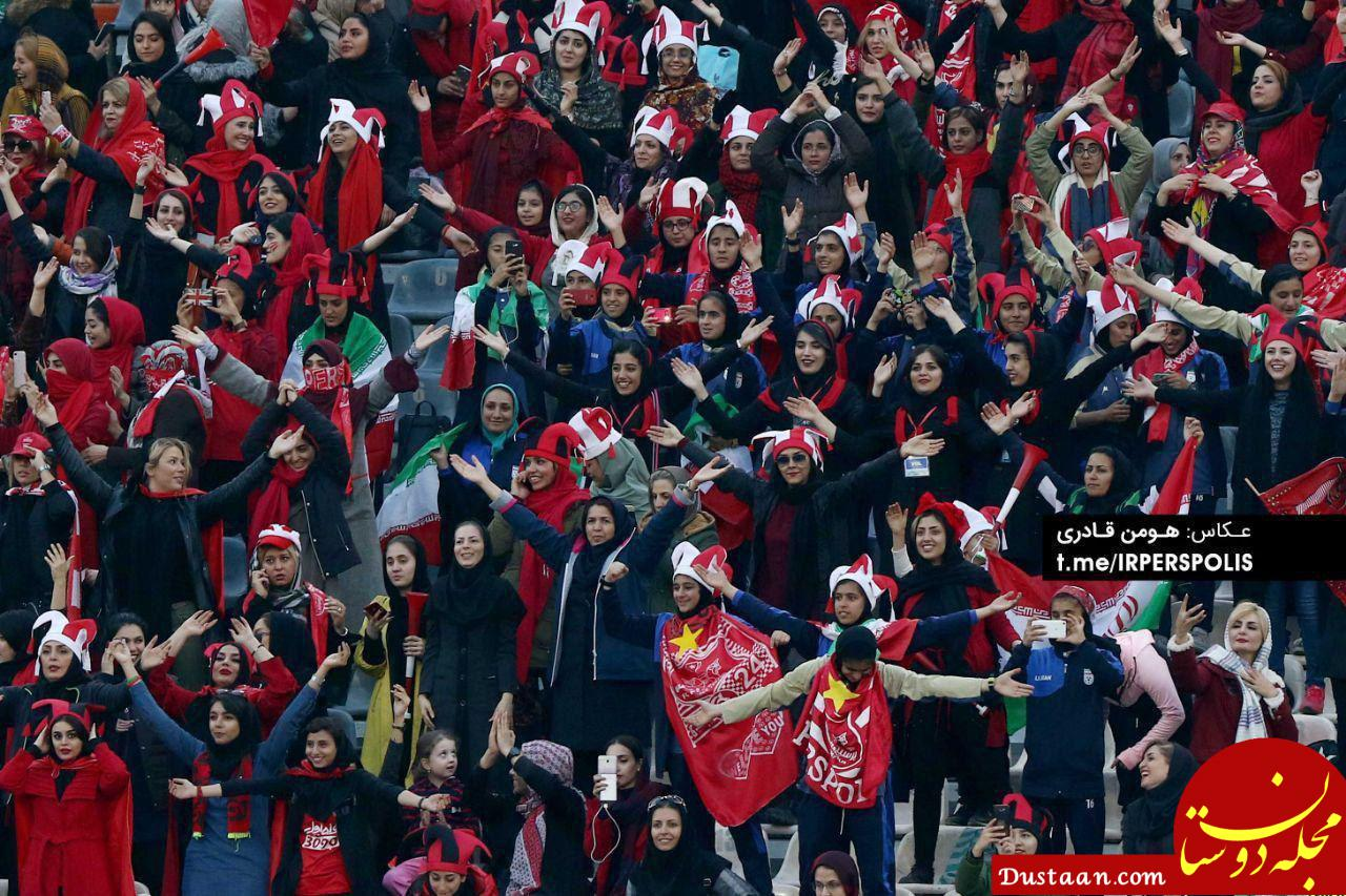 www.dustaan.com بازتاب حضور زنان ایرانی در ورزشگاه آزادی در حساب توییتری کنفدراسیون فوتبال آسیا