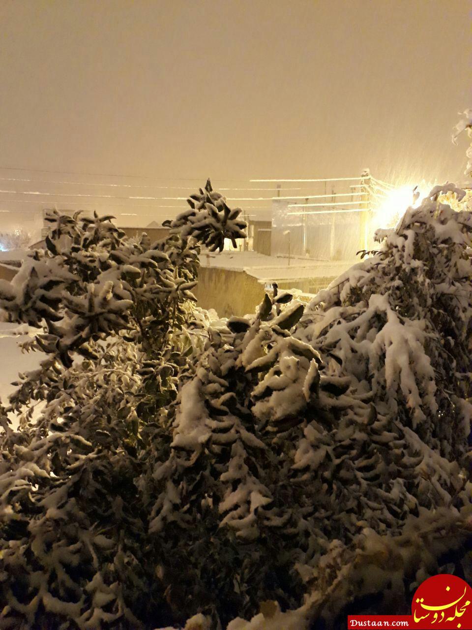 www.dustaan.com برف و کولاک شدید در جاده ها/ چهارشنبه 16 آبان