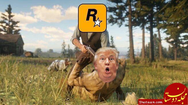 www.dustaan.com حمله به ترامپ و جف سشنز در بازی Red Dead Redemption 2! +عکس