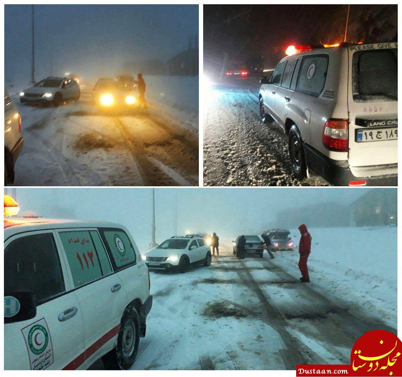 www.dustaan.com بارندگی در جاده های 6 استان /پنجشنبه 17 آبان