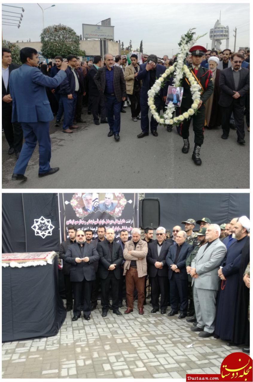 www.dustaan.com آغاز مراسم تشییع پیکر نوربخش و تاج الدین در گرگان