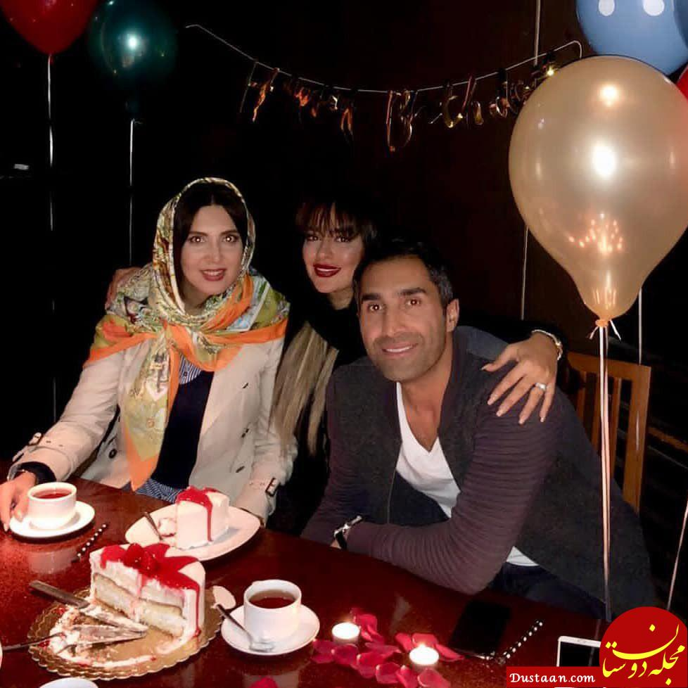www.dustaan.com جشن تولد هادی کاظمی در کنار همسرش سمانه پاکدل +تصاویر