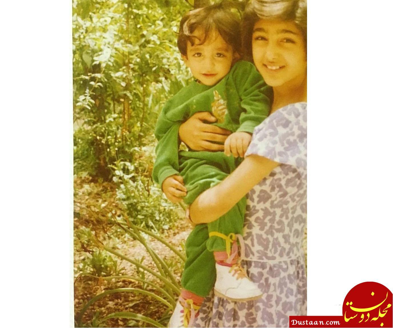 www.dustaan.com گلشیفته فراهانی و خواهرزاده اش سام 20 سال پیش! +عکس