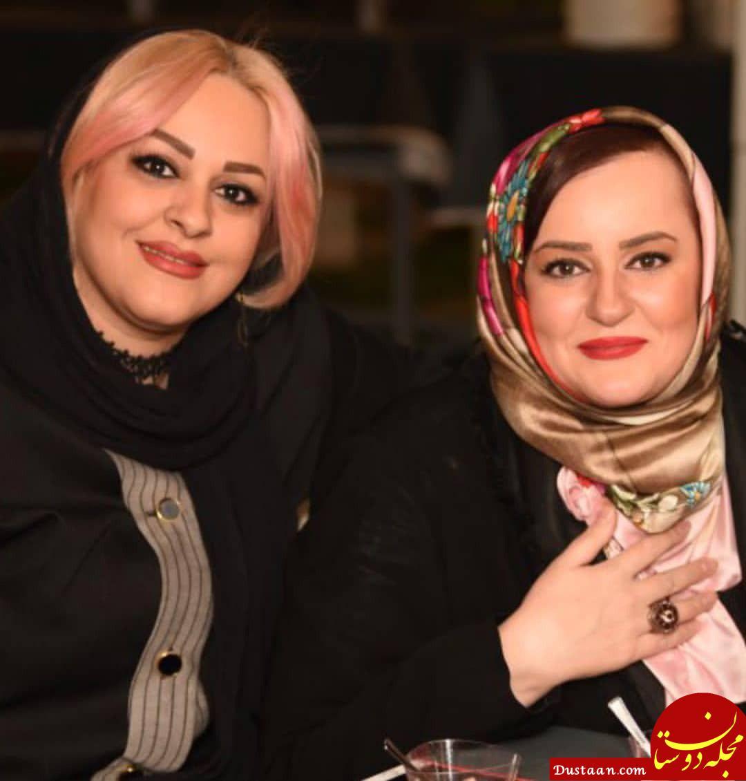 www.dustaan.com شباهت جالب نعیمه نظام دوست و خواهرش به هم!
